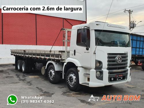 Vw 24250 Bitruck 8x2 Carroceria Ñ É Mb 1620 Caçamba Baú