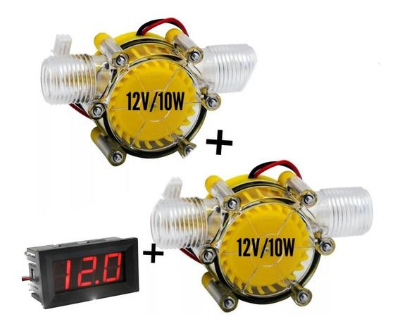 Micro Gerador Hidro Eletrico 12v Com Fluxo D