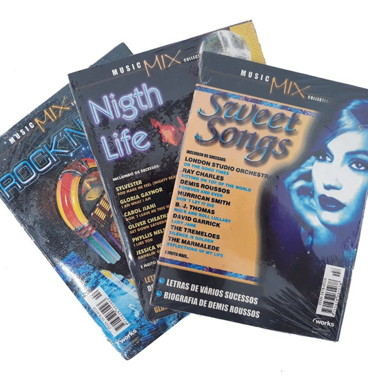 Revista Cd 3 Exemplares Music Mix Rock And Roll Sweet Songs