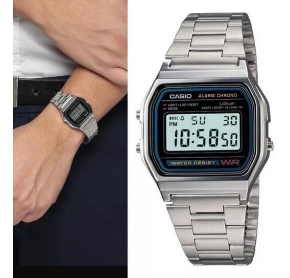 Relógios Casio A158wa Unissex Original Retrô C Caixa E Nf