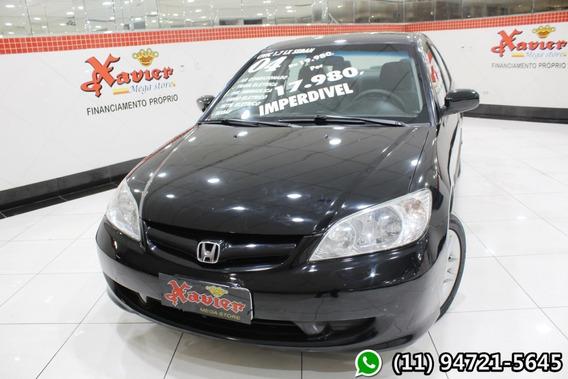 Honda Civic Lx 1.7 Mec Preto 2004 Financiamento Próprio 1410