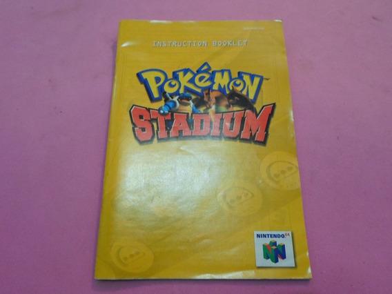 Manual Original Do Jogo Pokemon Stadium Usa Nintendo 64