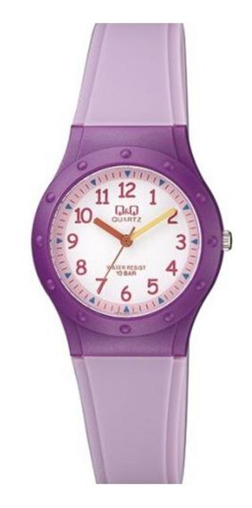 Relógio Feminino Infantil Roxo Q&q Prova D