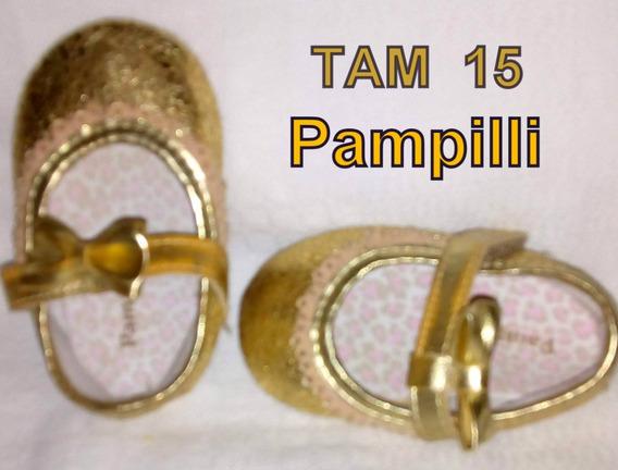 Sapato Dourado Pampill Tam 15