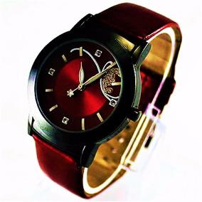 Relógio Unissex Quartzo Vermelho Mostrador Espelhado S/juros