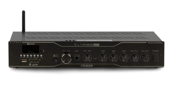 Amplificador Slim 3500 App,blu,sd,usb,aux,mic, 12x S\juros