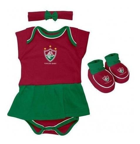 Kit Bebê Fluminense 3 Peças Menina - Torcida Baby