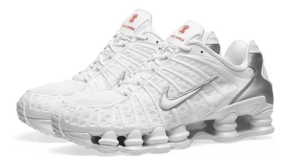 Tenis Masculino Nike Shox 12 Molas Na Caixa Branco Promoção
