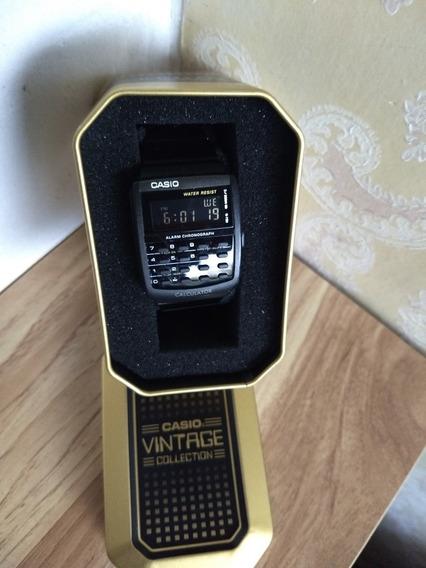 Reloj Casio Calculadora Negro Acero Inoxidable