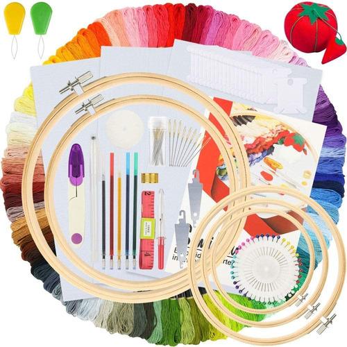 Similane Kit De Bordado 215 Piezas, 100 Hilos De Colores, 5