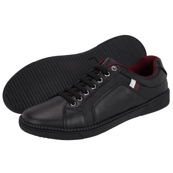 Sapatenis Em Couro Free Jump Estiloso Sapato Masculino