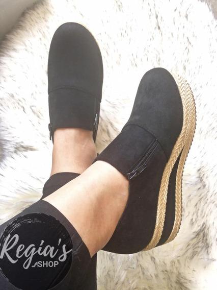 Hermosas Panchitas. Zapatos De Dama Con Plataforma.