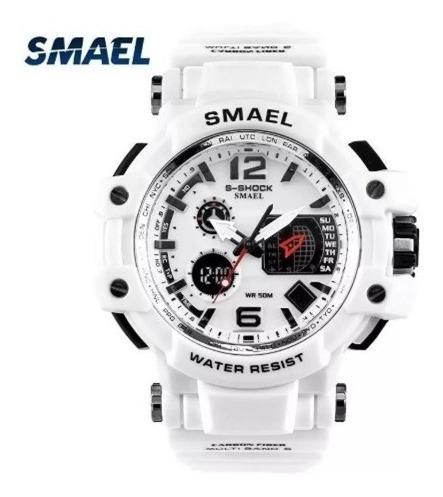 Relógio Esporte Masculino Branco - A Prova De Água E Choques
