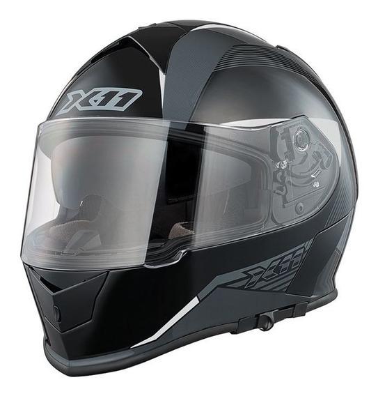 Capacete X11 Revo - 58 - Preto E Branco