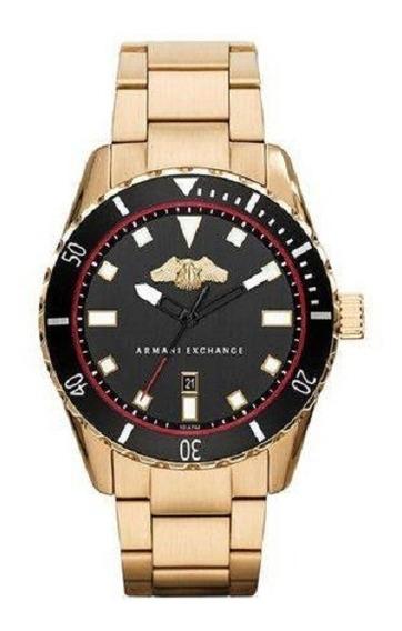 Relógio Armani Exchange Original Dourado Ax1710/4pn