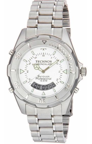 Relógio Technos Masculino Prateado 20557/3b