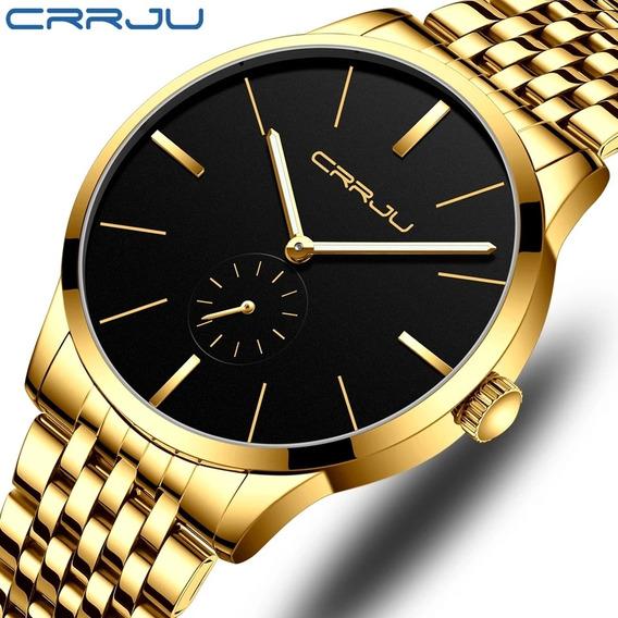 Relógio De Luxo Original Crrju Masculino Barato