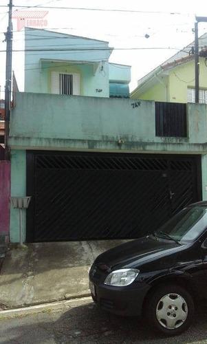 Casa Com 3 Dormitórios À Venda, 120 M² Por R$ 450.000,00 - Vila Helena - Santo André/sp - Ca0852