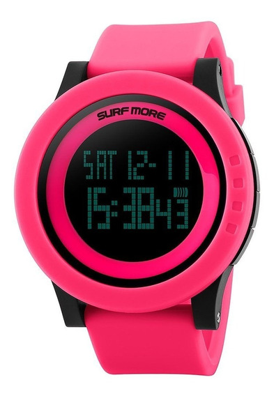 Relógio Feminino Surf More 20008499m Digital Negativo Rosa