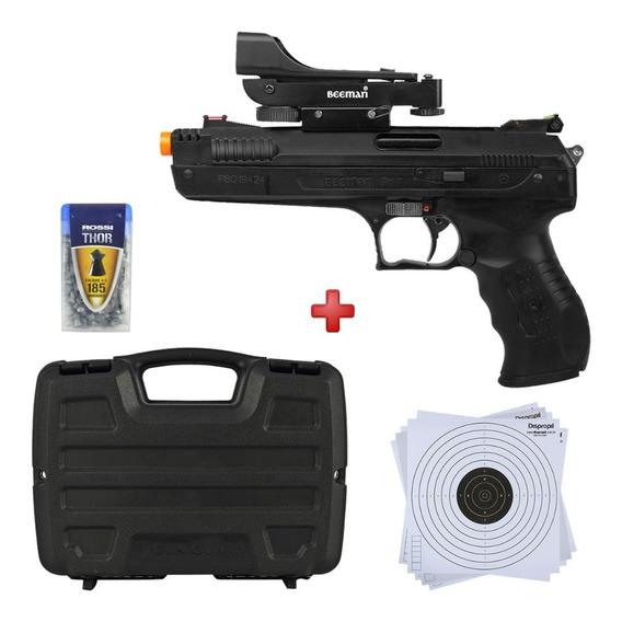 Pistola Pressão Chumbinho Beeman 4.5mm C/ Mira + Acessórios