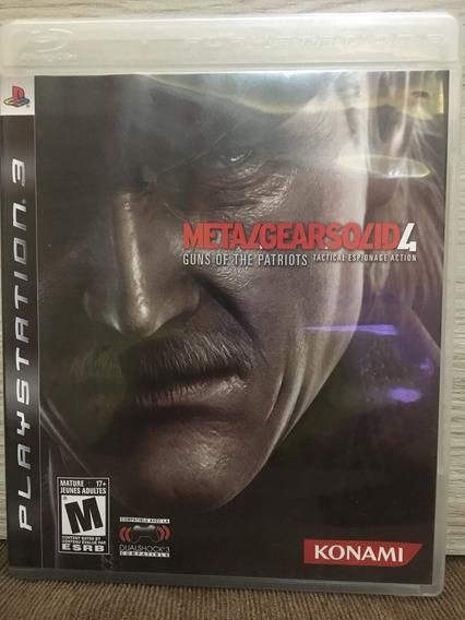 Jogo Original Ps3 Metal Gear Solid 4 Mídia Física