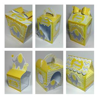 Arquivos Corte Silhouette Kit Batizado Elefantinho Amarelo