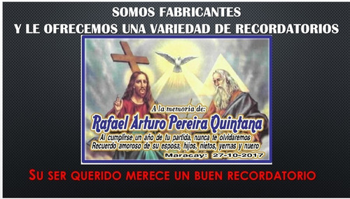 Imanes Recuerdos Funeral, Difunto, Ultima Noche, Novenario