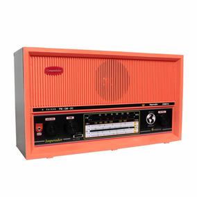 Rádio Portátil Am Fm Oc 6 Faixas C/aux Salmão Companheiro Cr