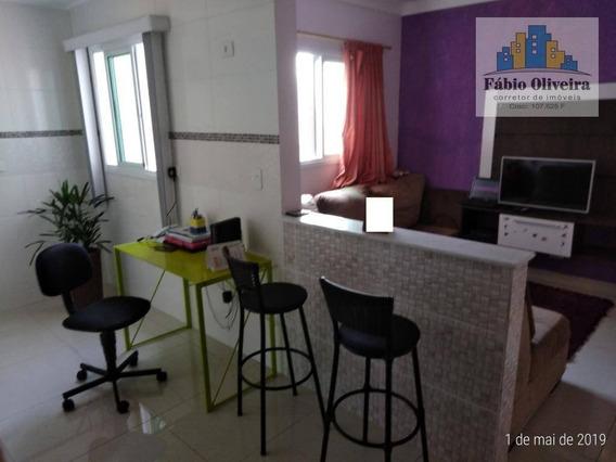 Cobertura Tipo Sem Condomínio Interna Coberta Com 2 Dormitórios À Venda, 53 M² Por R$ 340.000 - Vila Vitória - Santo André/sp - Co0092