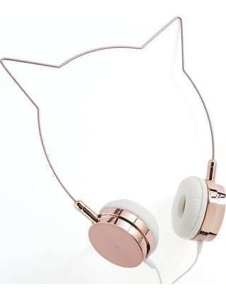 Fone Headphone Kitty Rose Gold Urban Outfitters