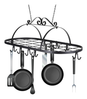 Best Choice Products Cocina Pan Hanger Hierro