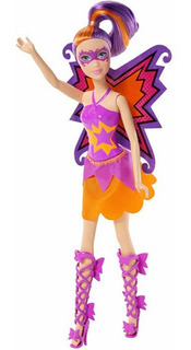 Muñeca Barbie Princesa Poder Mariposa Púrpura