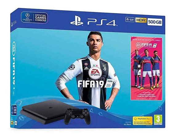 Console Sony Playstation 4 Slim 500gb Com Fifa 19