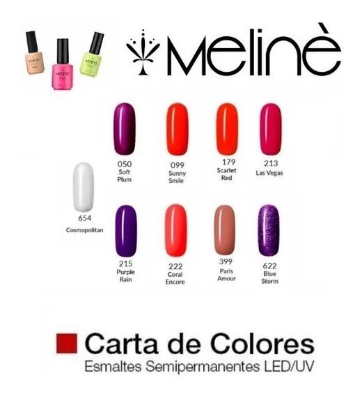Esmalte Meliné Gel Color Manicuria Semipermanente On-off X1