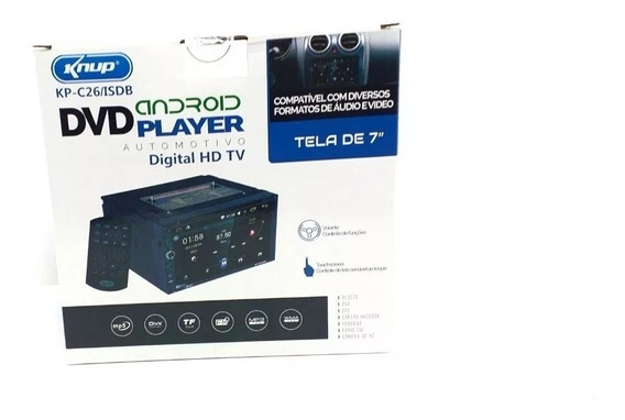 Central Multimidia Universal Android Tv Dig Dvd Tela 7