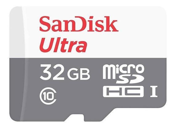 Cartão De Memória 32gb Ultra Classe 10 + Adaptador Sandisk