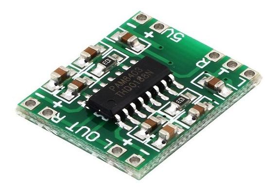 50 Pçs Amplificador De Som Placa Estéreo Áudio Pam8403 2x3 W