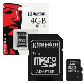 Kingston Cartão Micro Sd Card Com Adaptador 4gb #