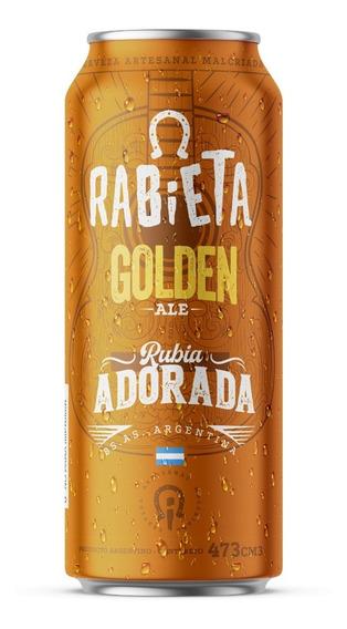 Cerveza Rabieta Golden Ale 473cc Pack X 12 Latas