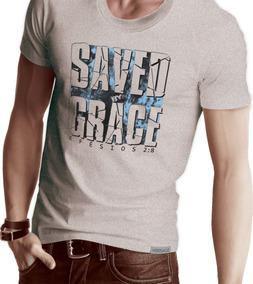 Camiseta Cristã Evangélica Salvopela Graça Promoção Verssage