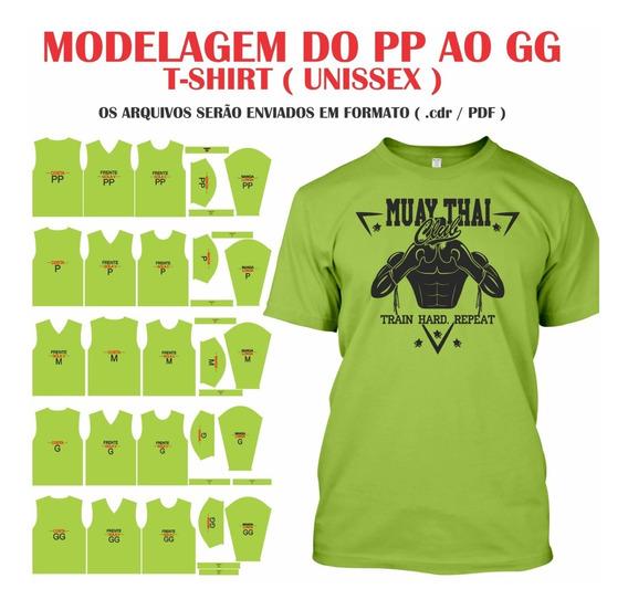 Molde De Camiseta Básica + Mockup Grátis