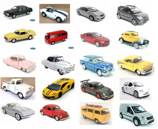 10x Miniaturas 1/36 A 1/43 Welly