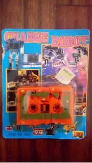 Antiguo Robot Transformers En Cassette En Blister Bootleg!!!