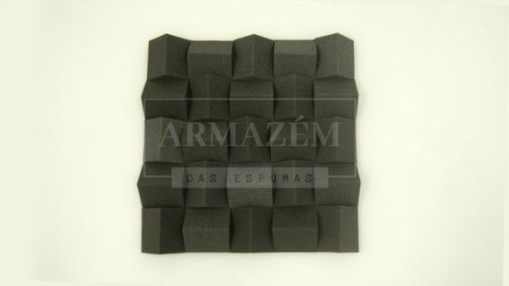 Espuma Acústica Difusor Acústico Alpha 60mm Cinza Antichamas