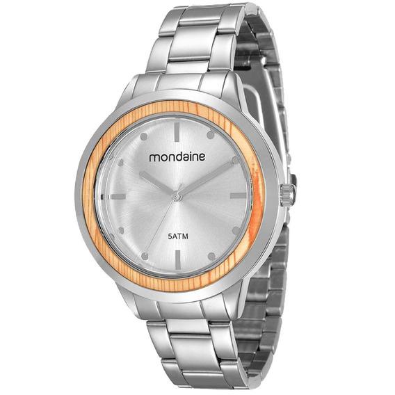 Relógio Feminino Mondaine Prateado Analógico 99055l0mvne2