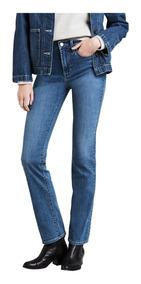 Calça Jeans Levis Feminina 724 High Rise Straight Azul Média