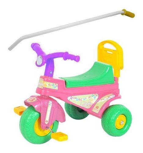 Imagen 1 de 2 de Triciclo Plastico Con Barral Lady Biemme 1 A 3 Años