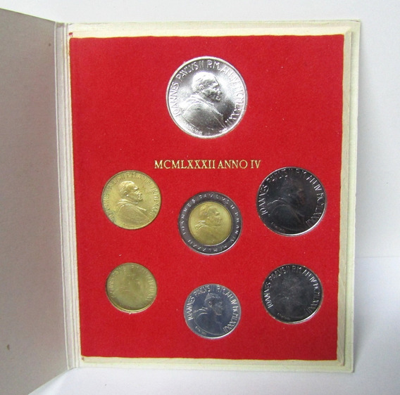 Vaticano Monedas Set De 7 Liras Año 1982 Juan Pablo Ii Unc