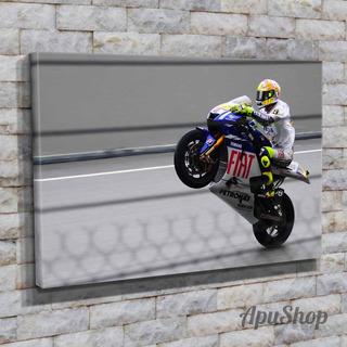 Cuadro Lienzo 60x40 Valentino Rossi Corredor Moto Gp Deporte