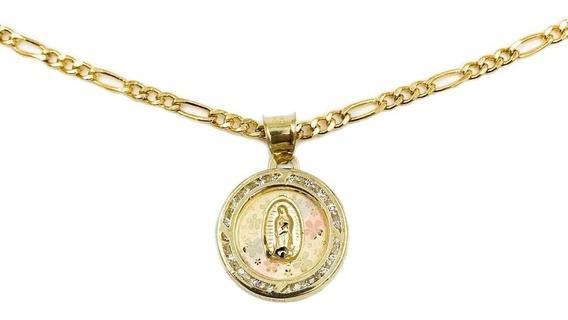 Medalla Virgen De Guadalupe Oro 10k 1gr + Cadena De Regalo